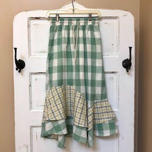 NWT Urban Outfitters Gingham Midi Skirt